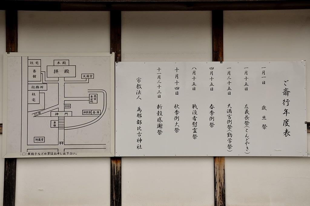 為那都比古神社/御斎行年度表