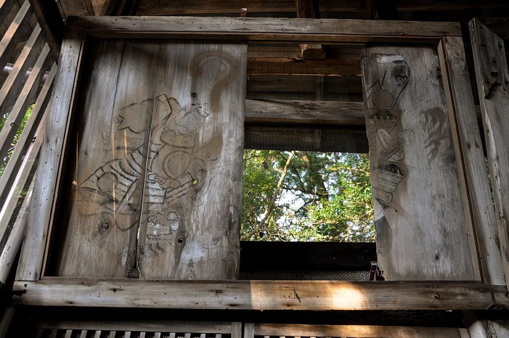 止々呂美神社/社殿内部武士の絵