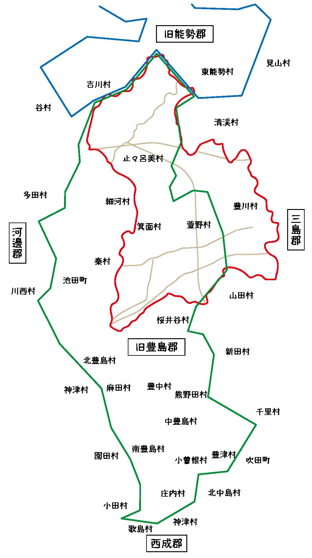 豊能郡地図