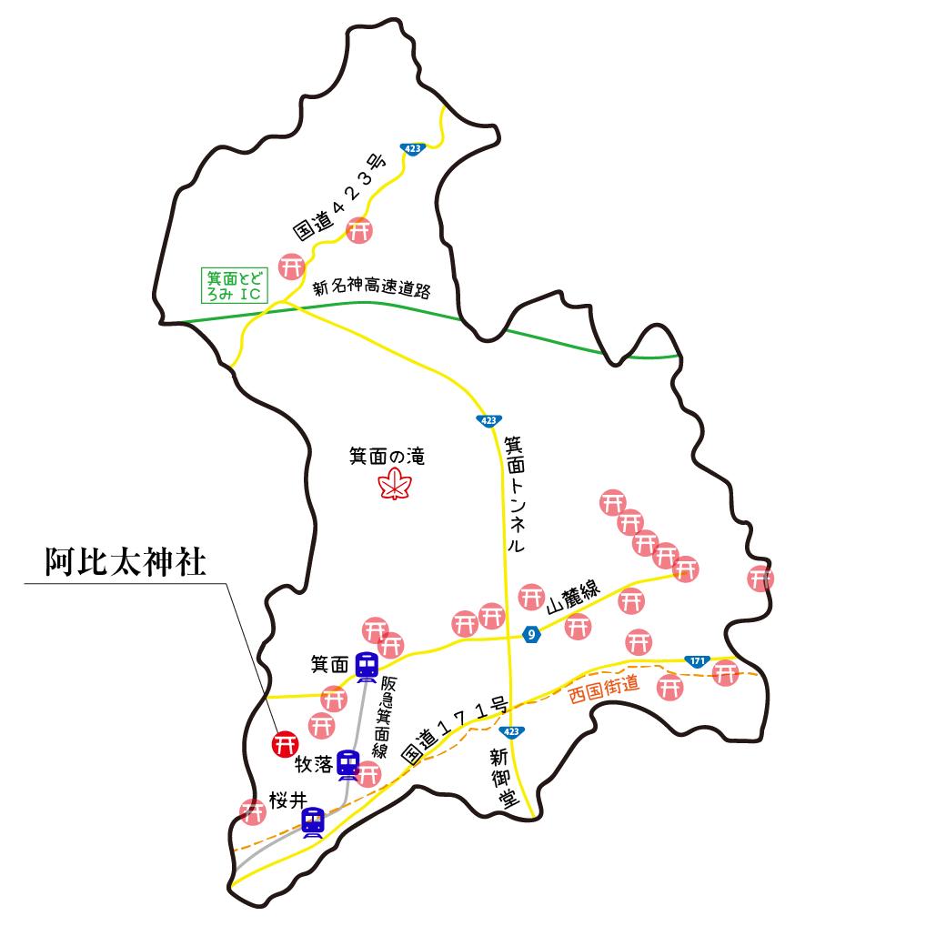 マップ阿比太神社