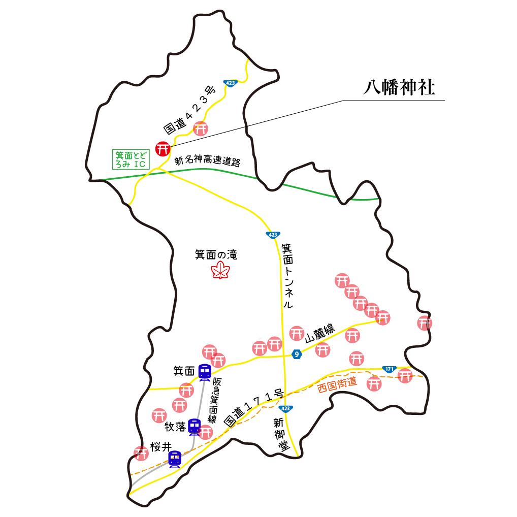 マップ八幡神社