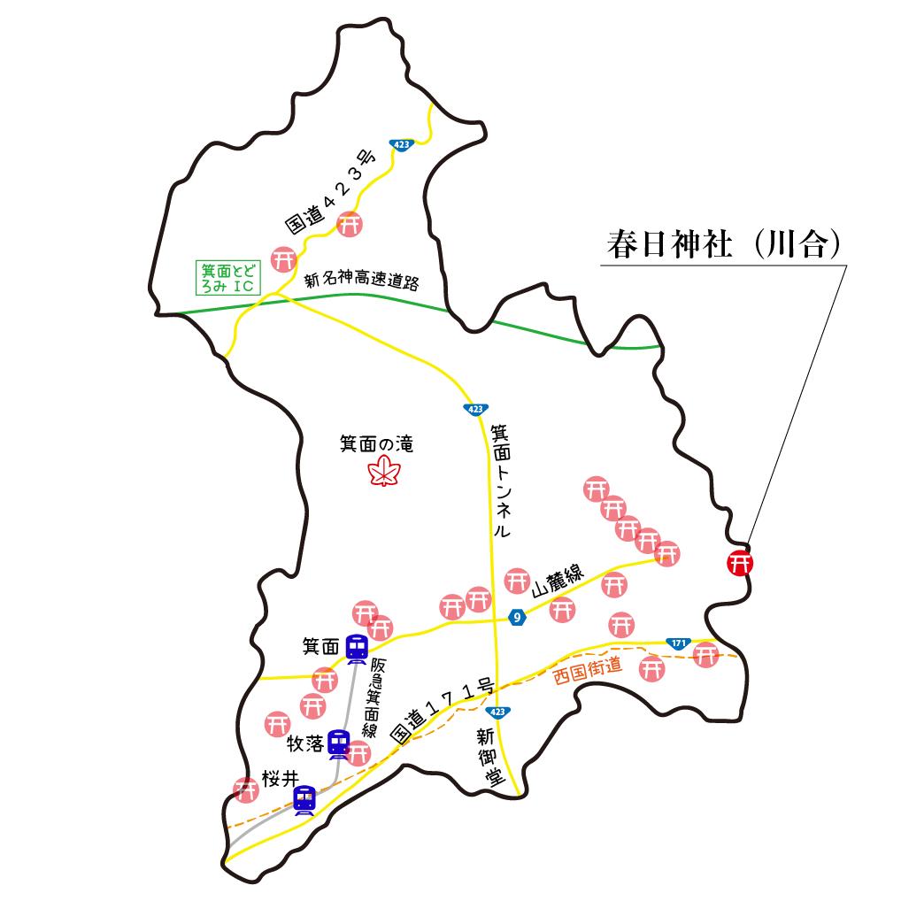 マップ川合春日神社