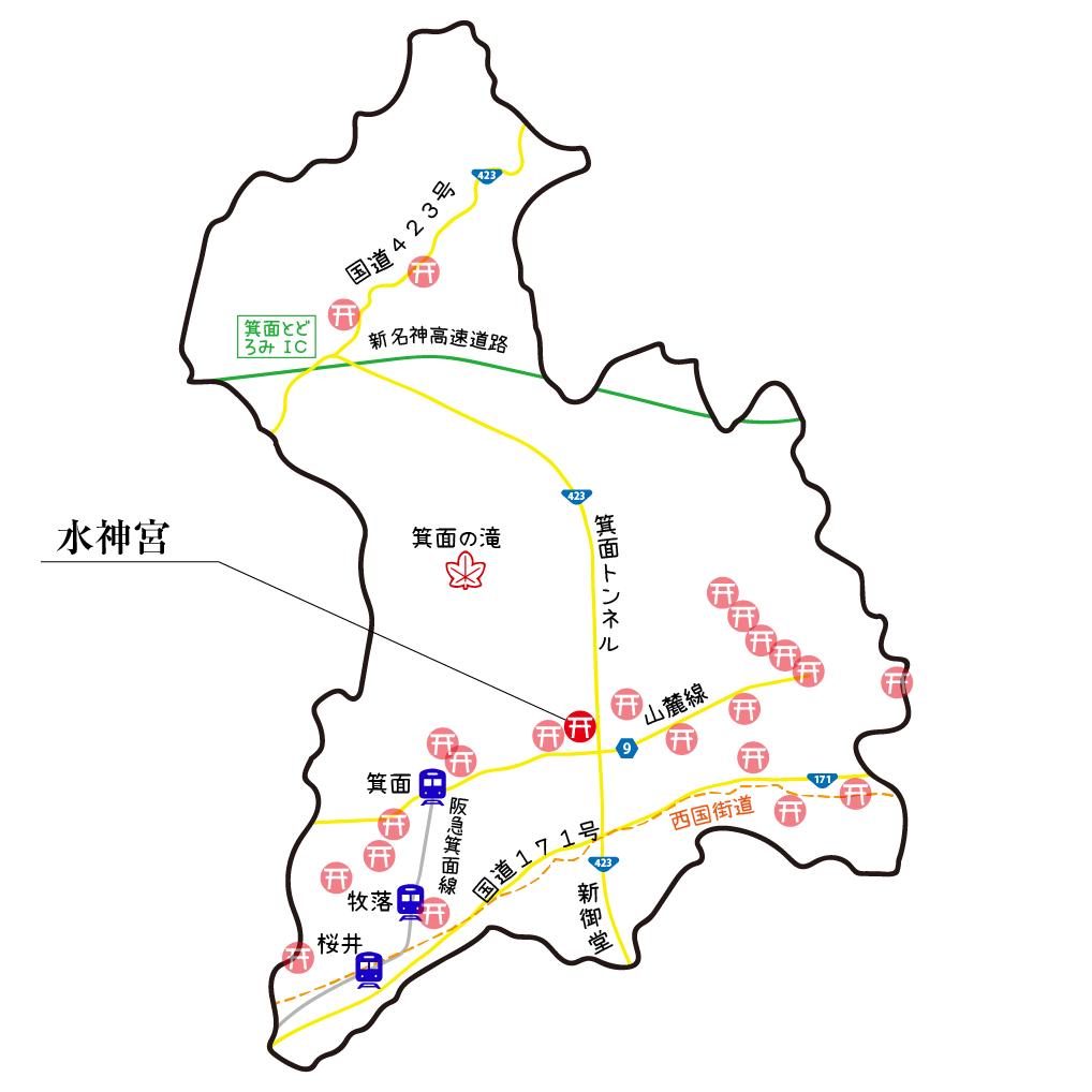マップ水神宮