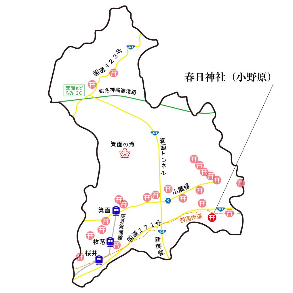 マップ小野原春日神社