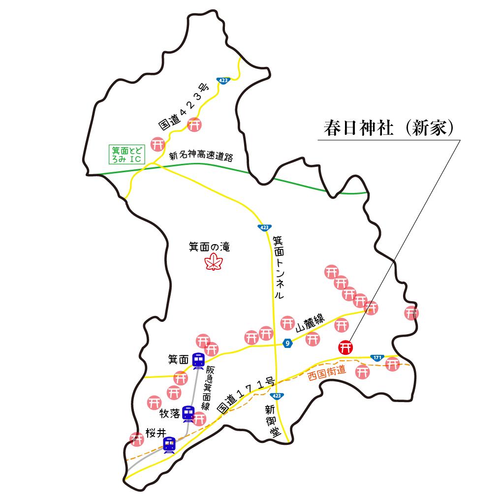 マップ新家春日神社