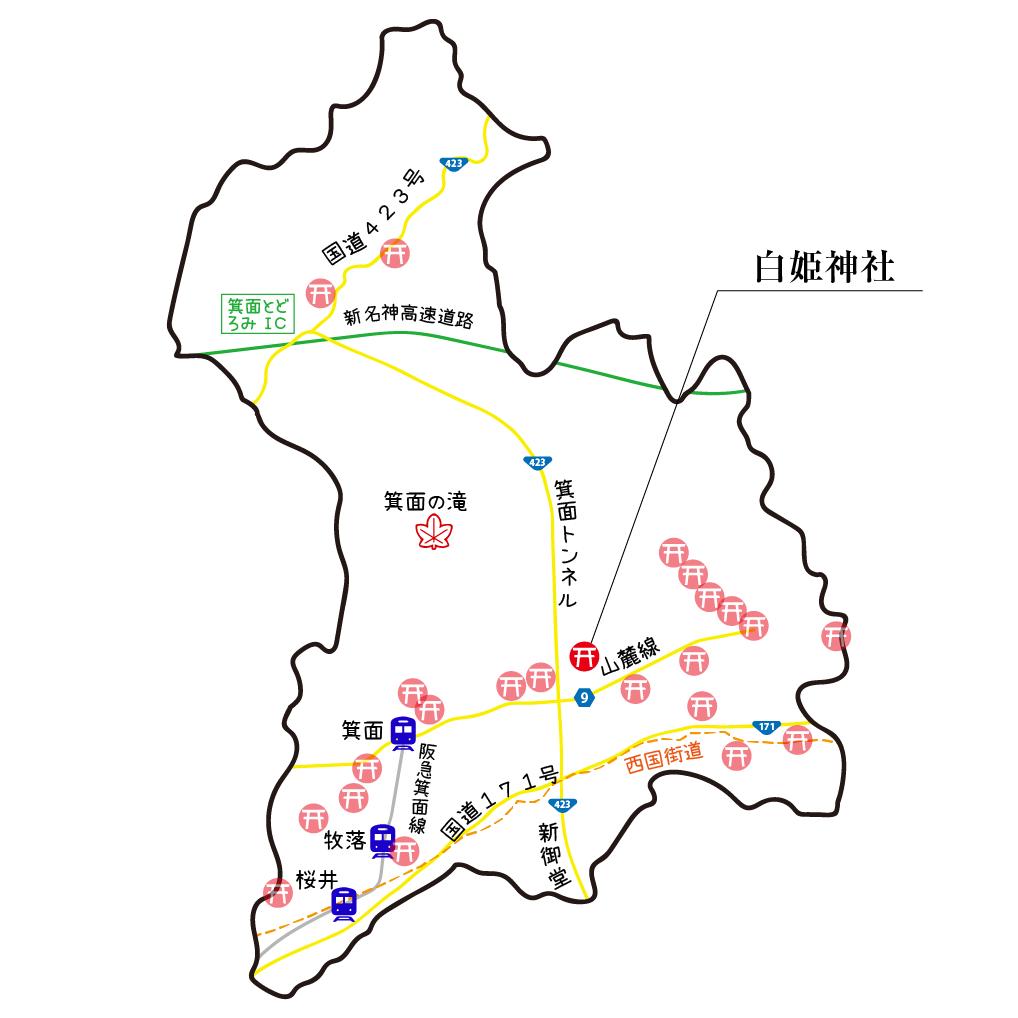 マップ白姫神社