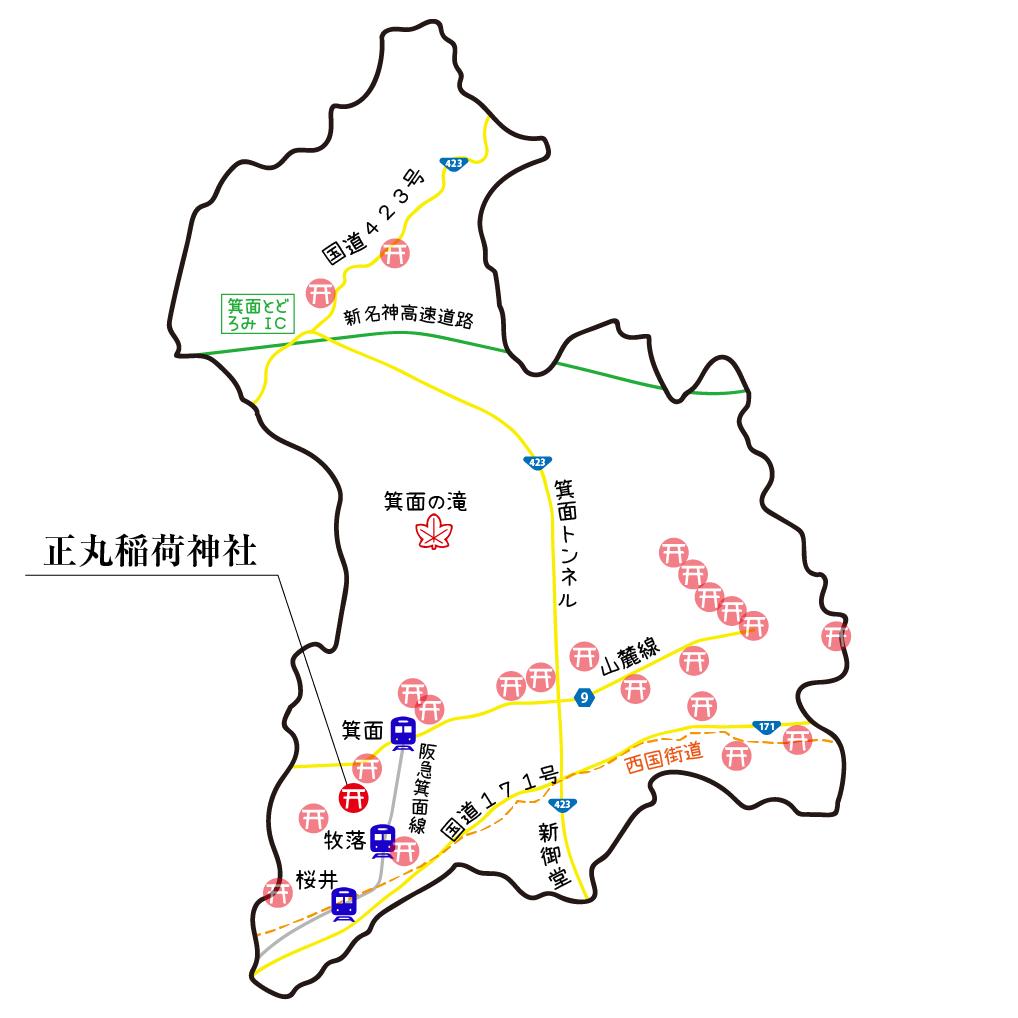 マップ正丸稲荷神社
