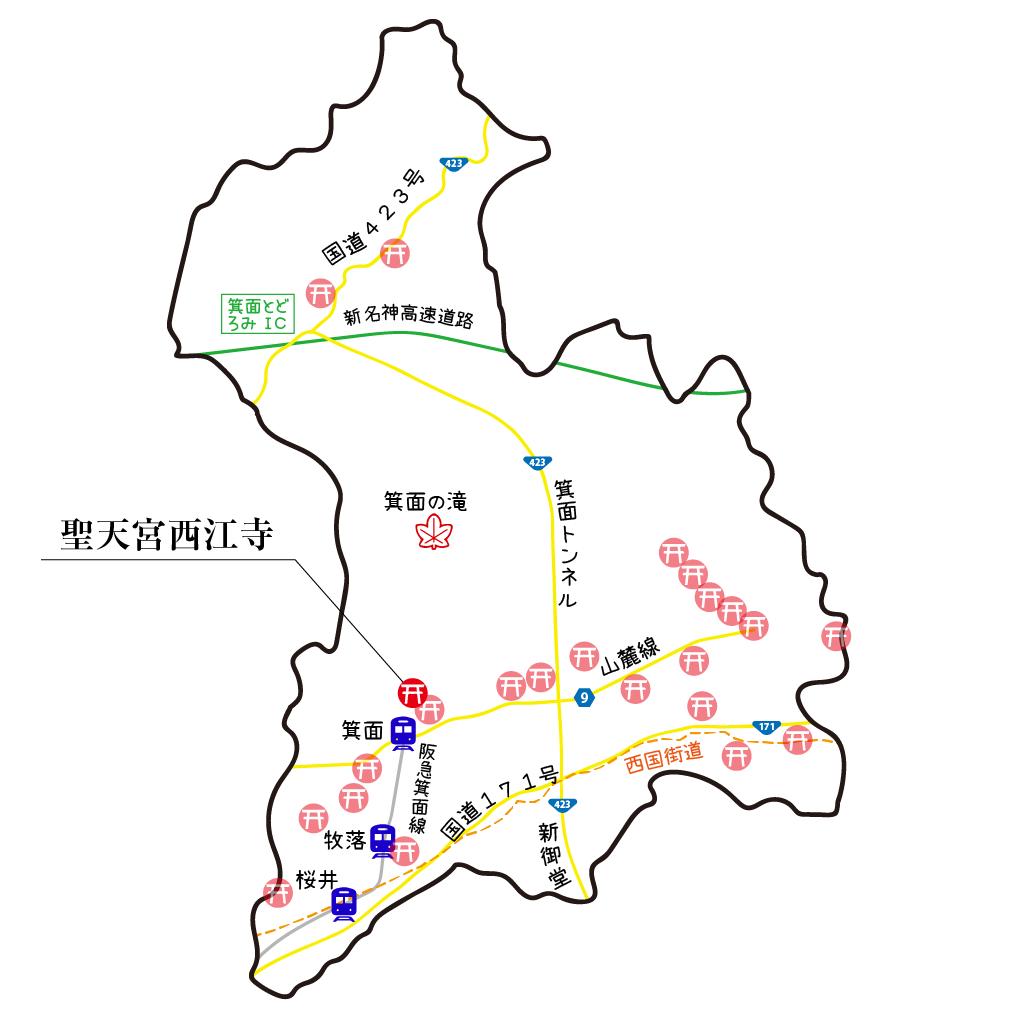 マップ聖天宮西江寺