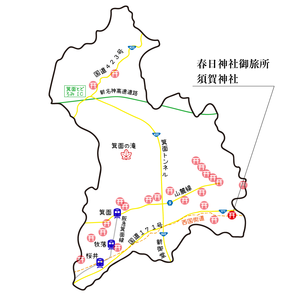 マップ春日神社御旅所・須賀神社